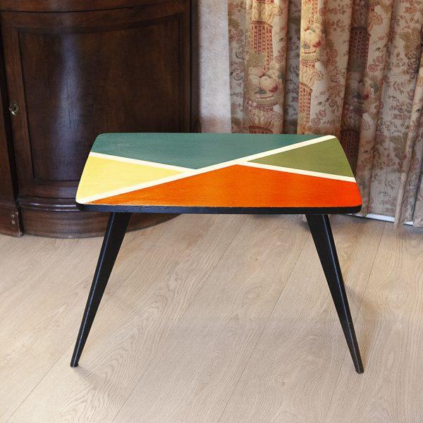 Table basse pied compas relookée_new_Art4Design_Pauline Godard