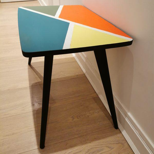 Table basse pied compas relookée_profil_Art4Design_Pauline Godard