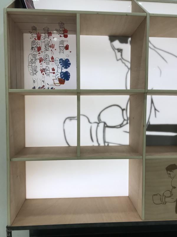Bibliothèque lumineuse_Détail_Art4Design_Cesar Audebert