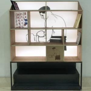 Bibliothèque lumineuse_Face_Art4Design_Cesar Audebert