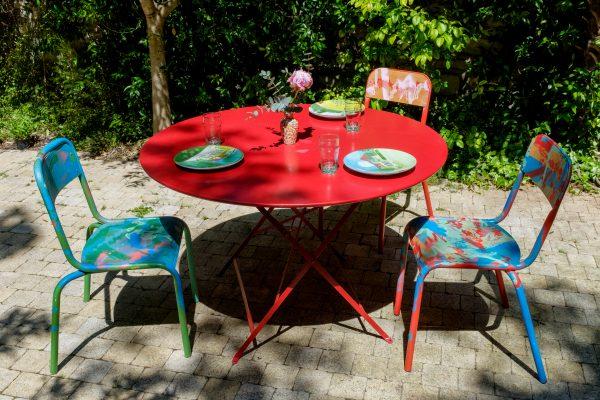 3 chaises d'école relookées_Art4Design_Yacine Ouelhadj