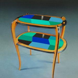 Table à thé année 30_version bleue_photo carrée_Art4Design_Stéphanie Lelong