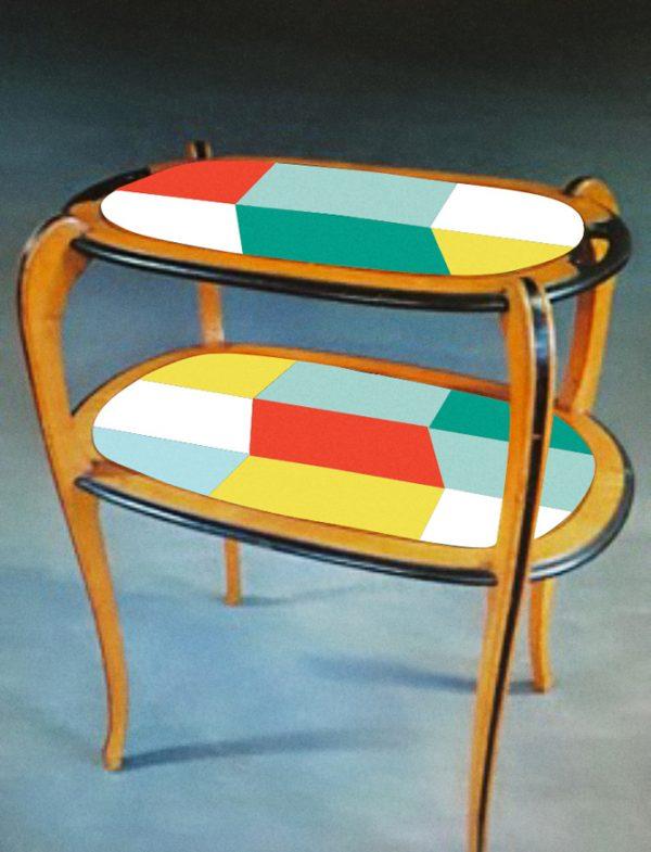 Table à thé année 30_version rouge_Art4Design_Stéphanie Lelong