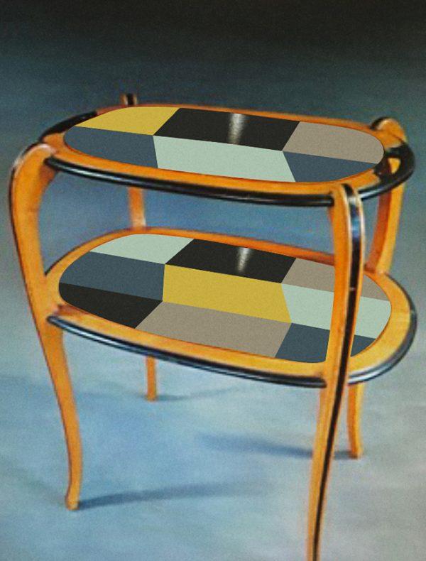 Table à thé année 30_version taupe_Art4Design_Stéphanie Lelong