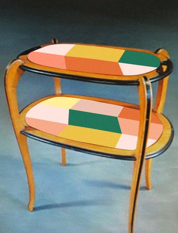 Table à thé année 30_version verte_Art4Design_Stéphanie Lelong