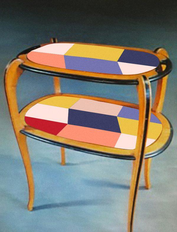 Table à thé année 30_version violette_Art4Design_Stéphanie Lelong